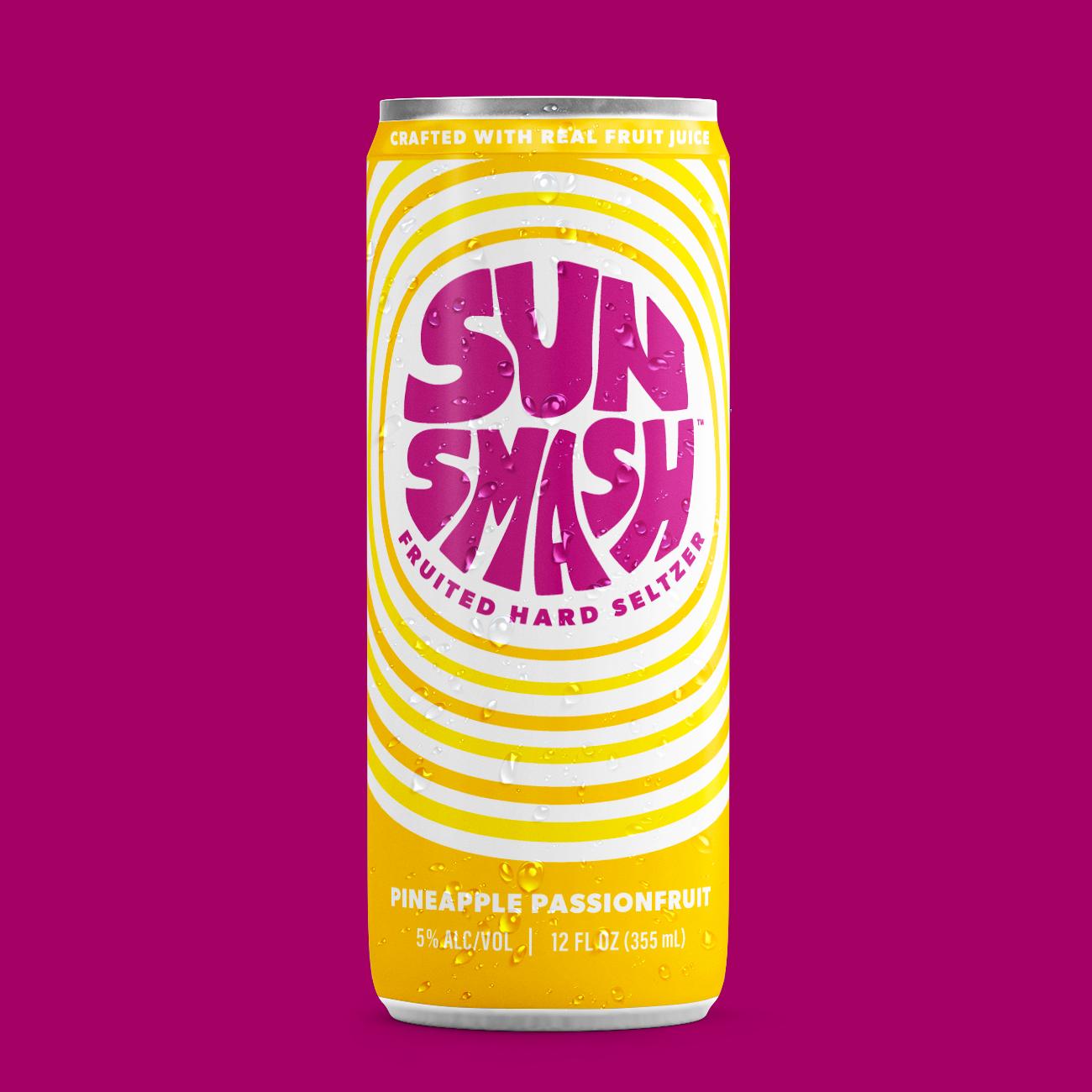 SunSmash Pineapple Passionfruit Hard Seltzer